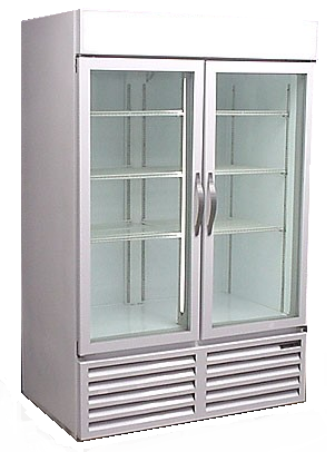 CRG48 - Used Two Door Cooler - Beverage Air - Glass Doors - Commercial - Refurbished