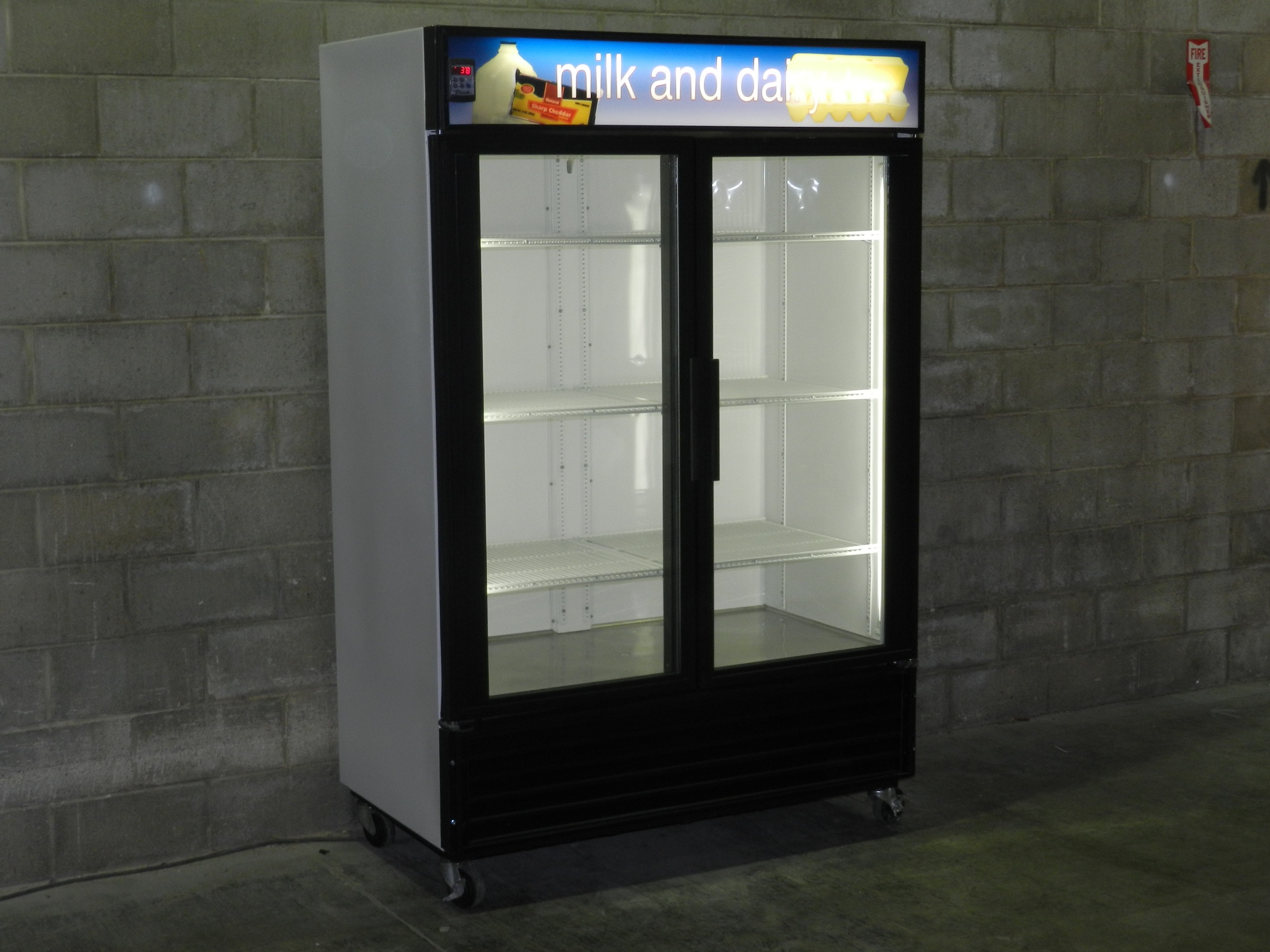 Used Two Glass Door Display Cooler