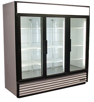 GDM-72F - 3 DOOR FREEZER - GLASS DOORS - REFURBISHED